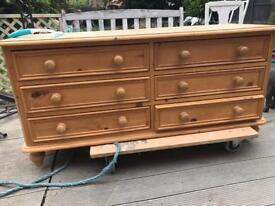 Solid wood double chest