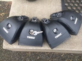 THULE Roof Rack for Sale. Complete two bar pack. Thule foot pack 753 with Thule Aero Bars(140cm)
