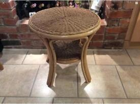 Bamboo wicker heavy conservatory table