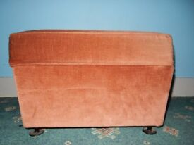 Parker Knoll Footstool Storage Ottoman Foot Stool Oxford Rrp Material Condition