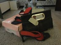 LADIES TED BAKER SANDALS AND HANDBAG