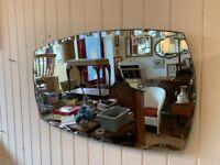 Art Deco Mirror Size W 66cm H 38cm Feel free to view