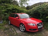 Audi A4 S LINE Avant (RED)