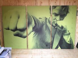 Large 3 Screen Print of Michael Caine in Get Carter