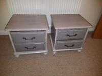 Shabby Chic Bedside Table Set