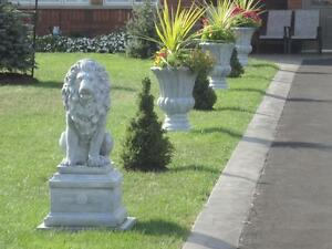 "New Solid Concrete/Cement 28"" tall Lion Garden Statue"