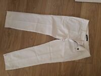 zara trousers cream colour size M