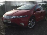 HONDA CIVIC ES I CDTI RECENT SERVICED FULL LEATHER PAN ROOF RED