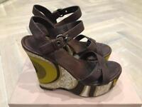 MUI MUI wedge sandal