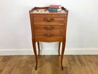 Vintage Louis XV Bedside Table - French #690