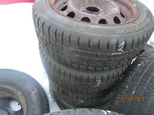 195/55R16 SET OF 4 USED HANKOOK WINTER TIRES ONLY
