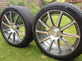 20 Mercedes AMG alloy wheels with tires OEM 255/40 285/35 R20