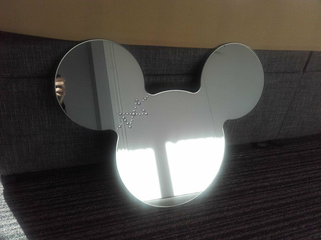 Disney Mickey Mouse Shaped Wall Mirror In Stanley