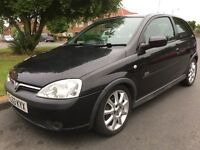 VAUXHALL CORSA 1.4 16V SRi, 3 DOOR, BLACK, 1 PREVIOUS OWNER, 72000 MILES, 6 MONTHS MOT, VERY CLEAN,