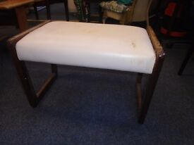 dutch style stool with leather seat.