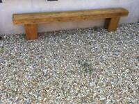 Railway sleeper garden bench
