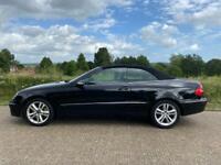 Mercedes 3.5 CLK sport 7gear black convertible