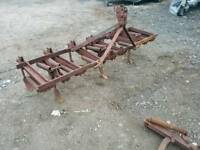 David Brown tractor 9 tyne cultivator with original badge has spare tynes