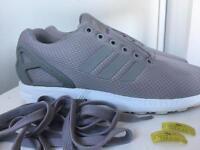 Adidas Grey Zx flux, size 6 *USED*
