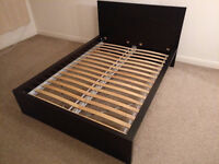 Double bed - IKEA MALM Black-brown