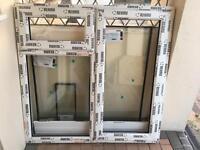 Brand New White PVC Window Frame, Glass, And Window Sill - 1200x1170
