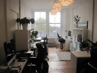 Spacious, sunny, renovated 5+ desk office in Dalston