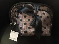 Marks & Spencer set of 2 black make-up bags - new