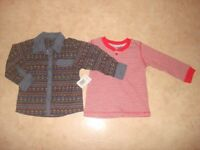 2 brand new tops size 9-12 m