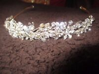 Tiara for sale. Only worn once. Paid £50.00 for it, but will sell for £5.00