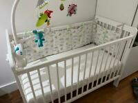 John Lewis cot bed that turns into a toddler bed