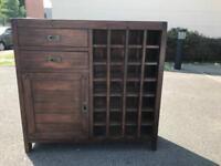 Rustic solid oak wine cabinet/sideboard