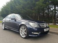 JULY 2011 MERCEDES C-CLASS C250 AMG SPORT CDI AUTOMATIC 1OWNER FROM 2011 LOW MILEAGE LEATHER ( NAV )