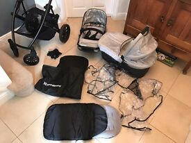 UPPAbaby Vista Silver Mica Travel System Single Seat Stroller 2014 model