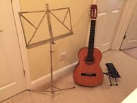 Three quarter sized acoustic guitar