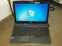 Acer 5735 laptop. 3gb ram. 250gb hdd. Webcam