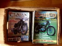 Lots of old motorcycle magazines