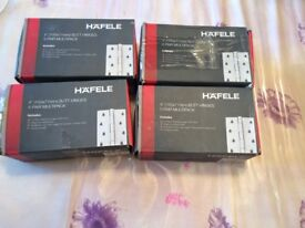 Hafele Butt Hinges 4inch(100X 71mm) 5 pairs multipack inc. fixings NEW