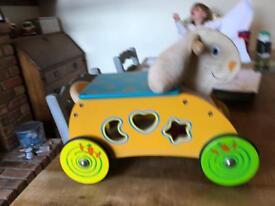 Wooden ride on rabbitt