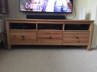 Hemnes TV bench natural wood excellent condition . Bought 2 months ago but to big for my living room