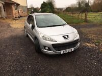 1.6litre Automatic Silver Peugeot 207 for sale - excellent condition with 13,969 miles