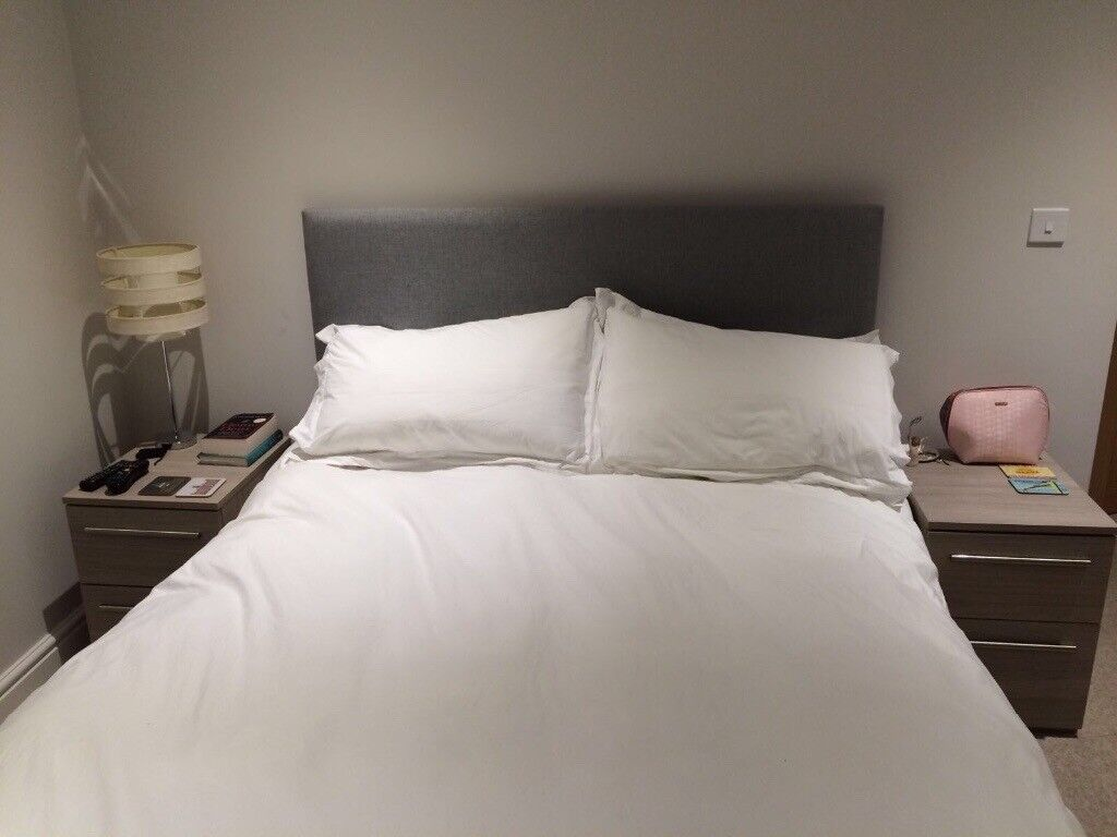 King sized bed with headboardin Winchester, Hampshire - King sized bed with headboard. Mattress and bed linen not included bed and head board only. Buyer must be able to collect