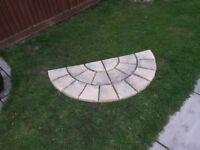 18 slab semi-circular garden feature.