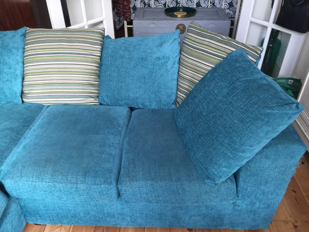 SOLD Teal colour corner sofa | in Littlehampton, West Sussex | Gumtree