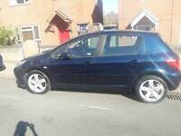 PEUGEOT 307 GENIUNE 46000 MILES LIMITED EDITION SPORT FREE 6 MONTHS WARRANTY