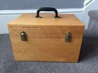 Essential oil wooden storage box