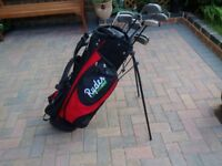 Golf clubs set with bag.