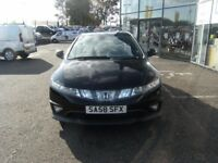 2008 58 HONDA CIVIC 1.8 I-VTEC TYPE-S GT I-SHIFT 3D AUTO 139 BHP****GUARANTEED FINANCE****