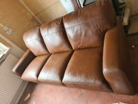 Leather sofas antique tan