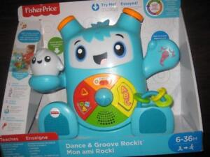 Fisher Price - Smart Moves Rockit. Infant / Toddler. Baby. Play Learn. Dance and Groove. Interactive Light, Music. Audio