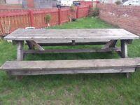 Pub bench